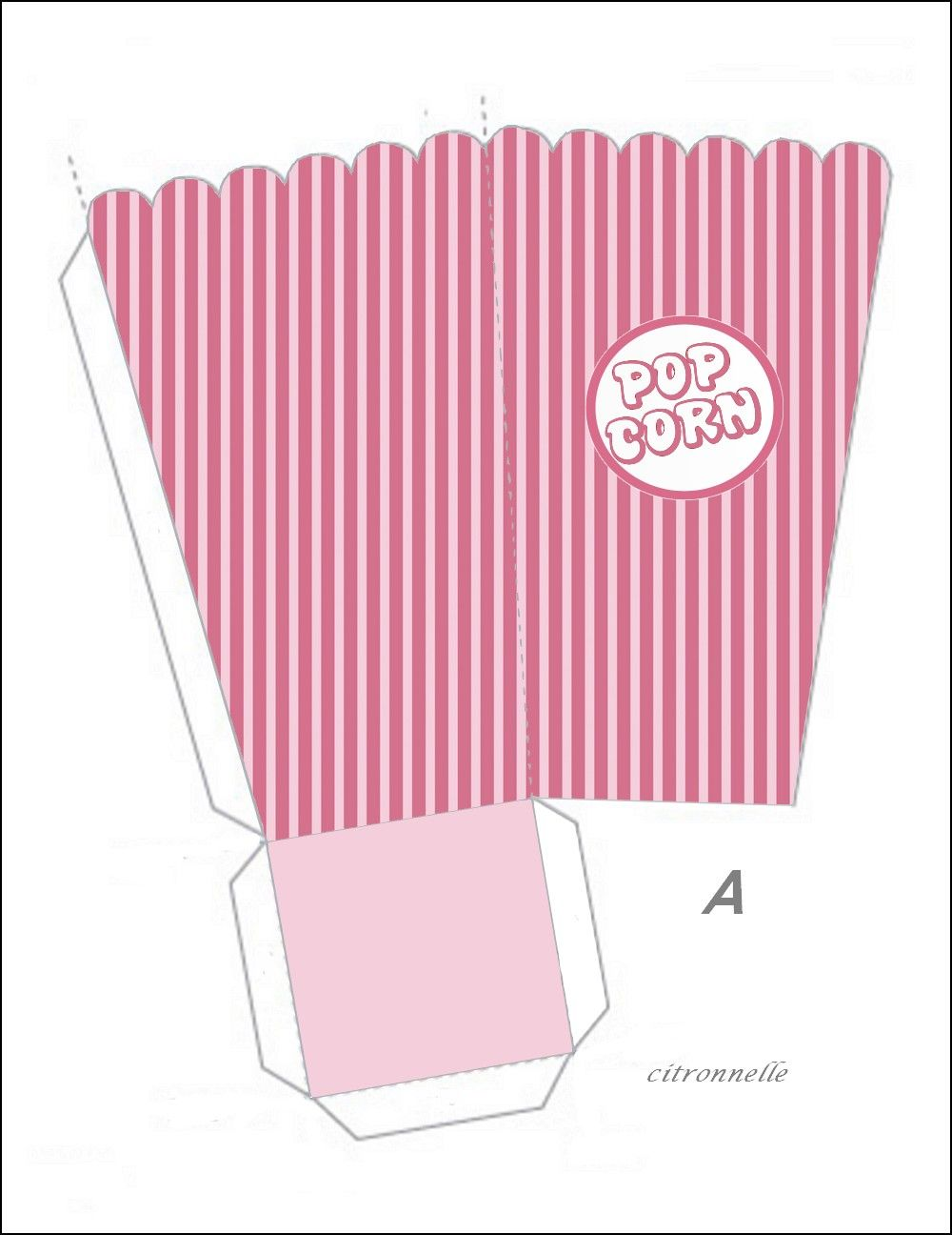 boite pop corn patron po le cuisine inox. Black Bedroom Furniture Sets. Home Design Ideas